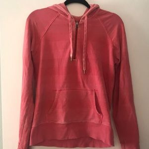 Pink Striped Gap quarter Zip
